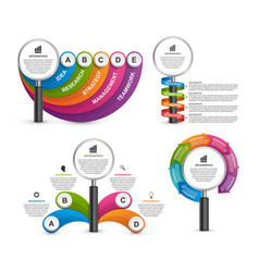 bundle infographic elements design vector image