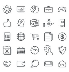 Business abstract line icons modern web vector