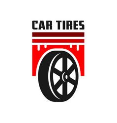 car tire logo design vector image