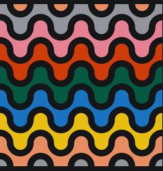 Colorful seamless wavy pattern - geometric vector