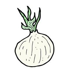 Comic cartoon onion vector