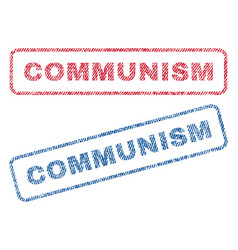Communism textile stamps vector