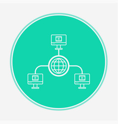 computer network icon sign symbol vector image