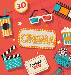 Concept of cinema vector