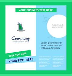 Dubai hotel company brochure template business vector