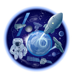 exploration galaxy and space vector image