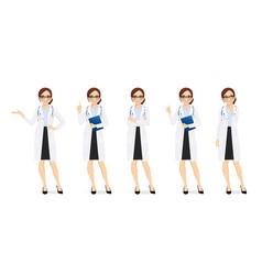 female doctor set vector image