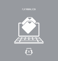 files download - flat minimal icon vector image