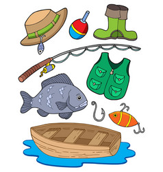 fishing equipment vector image