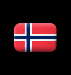 flag of norway matted icon and button vector image