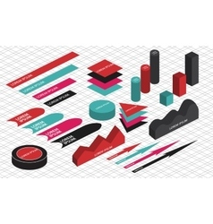 Flat 3d isometric infographic vector image