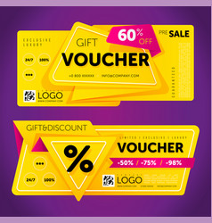 gift voucher template with modern pattern vector image