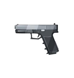Gun icon in cartoon style vector image