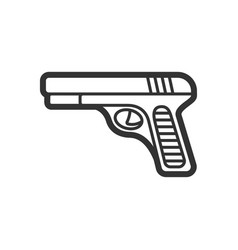 hand gun flat paintball or airsoft icon vector image