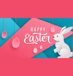 happy easter poster background holiday greeting vector image