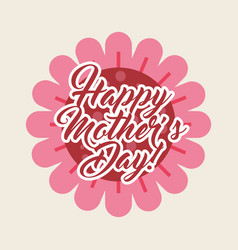 happy mothers day celebration card vector image