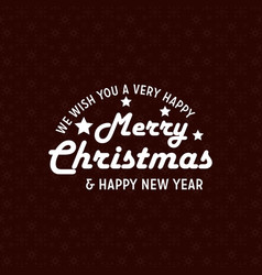 happy new year and christmas snowflake background vector image