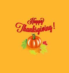 happy thanksgiving pumpkin background card vector image