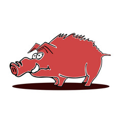 hog character vector image