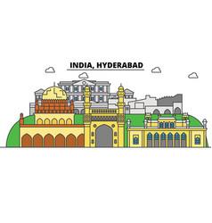Hyderabad india hinduism city skyline vector