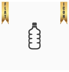 Icon of plastic water bottle vector