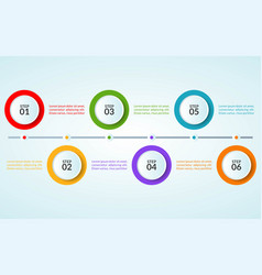 infographic template step or workflow diagram vector image