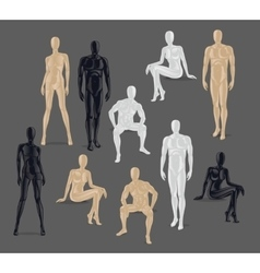 Isolated Mannequins vector