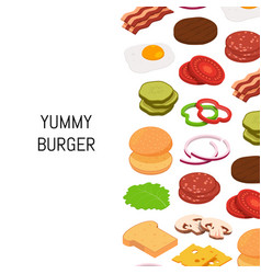 isometric burger with color ingredients vector image