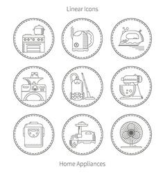 Kitchen home appliances vector