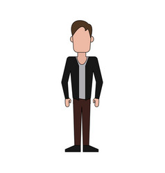 Man avatar full body icon image vector