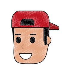 man with hat design vector image