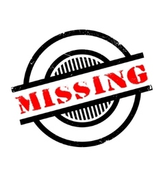 Missing rubber stamp vector image