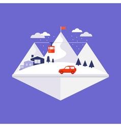 Mountain winter design concept vector