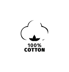 Natural organic cotton label vector image