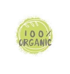 Percent Organic Food Label vector