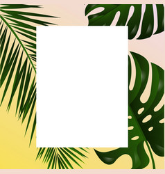 poster with tropical leaf vector image