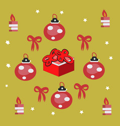red gift box with ribbon and bow vector image