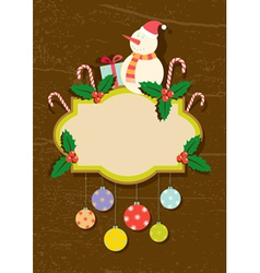retro of christmas symbols vector image
