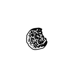 round cake logo design inspiration vector image