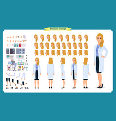 scientist character creation set woman worker vector image
