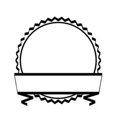 seal frame with ribbon vector image
