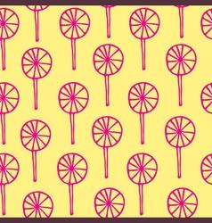 Seamless pattern lollipops sweetmeats vector