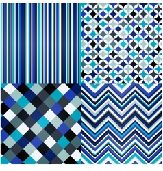 seamless stripes geometric and zigzag pattern vector image