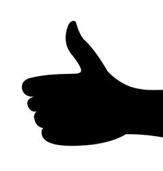 silhouette thumb up isolated vector image