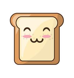 slice of bread cartoon vector image