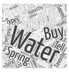spring water Word Cloud Concept vector image