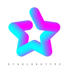 star logotype template colorful gradient star vector image