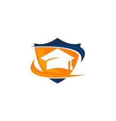 Student exchange logo design template vector