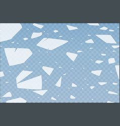 The surface texture is cracked on ice isolated on vector
