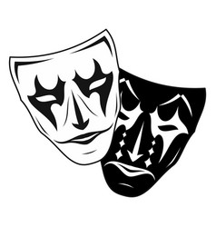 theatrical mask 3 vector image